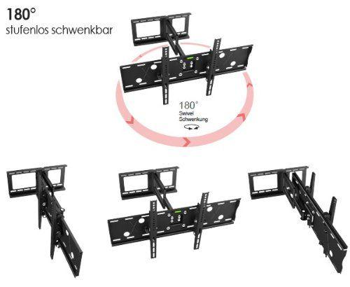 photo Wallpaper of RICOO-RICOO Wandhalterung TV Schwenkbar Neigbar R05 Universal LCD Wandhalter Ausziehbar Fernseher-schwarz