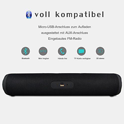 photo Wallpaper of MroTech-Bluetooth Stereo Lautsprecher, MroTech Kabelloser Desktop Lautsprecher Musik Boxen Mit FM-Bluetooth Lautsprecher-Groß