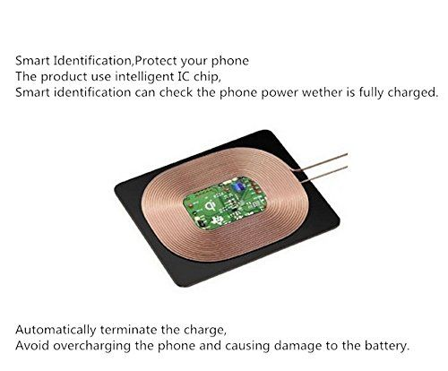 photo Wallpaper of BETTERSHOP-BETTERSHOP [QI CERTIFIED] ADAPTER Wireless Empfänger Wireless Charger Receiver 1000MAH FAST CHARGE-APPLE