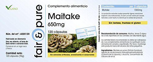 photo Wallpaper of Fair & Pure-Maitake 650mg (Grifola Frondosa), Vegan Und Natürlich, Ohne Magnesiumstearat, 120 Kapseln,-