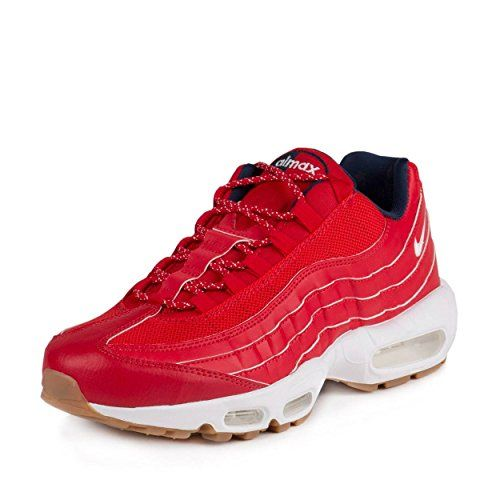 photo Wallpaper of Nike-Nike Mens Air Max 95 Prm 4th Of July University Red/White Mid Navy-University Red/White-mid Navy
