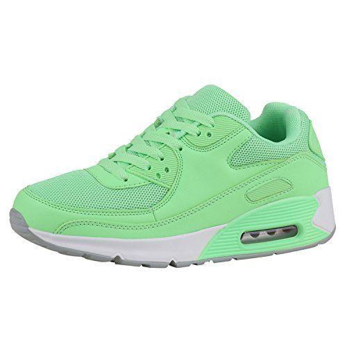 photo Wallpaper of Japado-Japado Damen Schuhe Sportschuhe Runners Trendfarben Sneakers Laufschuhe Neongrün 36-Neongrün