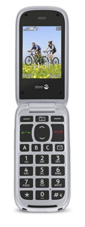 photo Wallpaper of Doro-Doro PhoneEasy 613 Mobiltelefon Im Eleganten Klappdesign (2 Megapixel Kamera, Große-silber