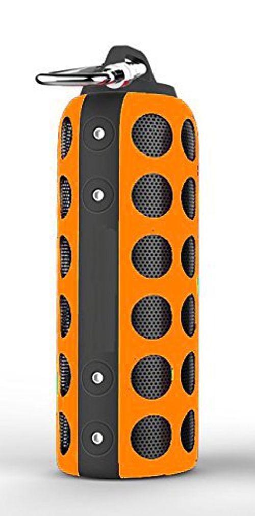 photo Wallpaper of Elive-Bluetooth 4.0 Outdoor Sport Lautsprecher, Spritzwassergeschützt, Mit Kabelloser Musikübertragung über Bluetooth Oder AUX In-orange