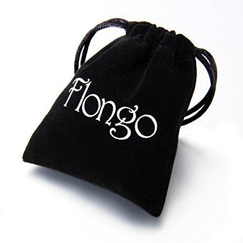 photo Wallpaper of Flongo-Flongo 2 Stück Leder Echtleder Armband Armreifen Lederarmband Kordelkette Schwarz Braun-