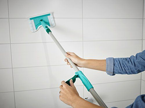 photo Wallpaper of Leifheit-Leifheit Flexipad   Mopa Para Azulejos Con Palo Telescópico,-Verde, Color Blanco