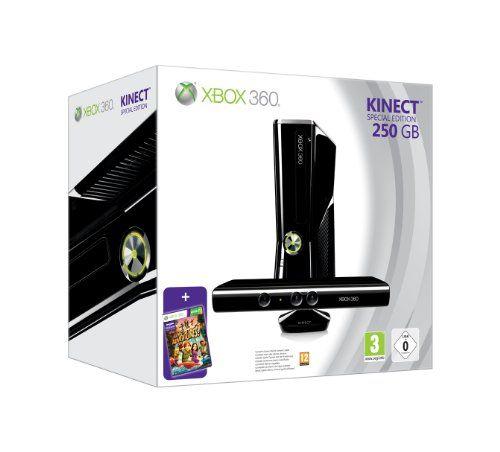 photo Wallpaper of Microsoft-Xbox 360   Konsole Slim 250 GB Inkl. Kinect Sensor + Kinect-schwarz-glänzend