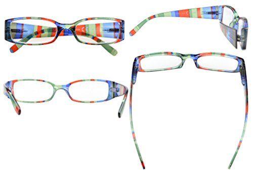 photo Wallpaper of Eyekepper-Eyekepper Gafas De Lectura De Patas Rayadas Con Bisagra De Resorte De-Stripe Mix