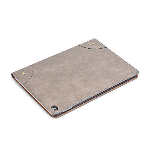 photo Wallpaper of elecfan-Smart Cover For IPad Air , Elecfan® Vintage Retro Business Stil-Grau