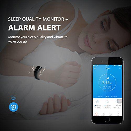 photo Wallpaper of Mpow-Mpow Bluetooth 4,0 Fitness Armbänder Mit Pulsmesser,Smart Fitness Tracker Mit Herzfrequenzmesser, Schrittzähler, Schlaf-Schwarz