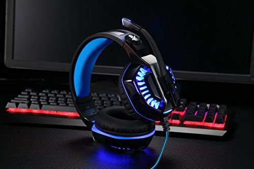 photo Wallpaper of Micolindun-Gaming Headset Kopfhörer Gamer Mit Mikrofon Micolindun Für PC, PS4, Xbox-Blau