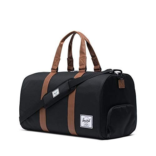 photo Wallpaper of Herschel-Herschel Novel Duffle Gürteltasche, Schwarz/Tan-Black/Tan Synthetic Leather Duffle