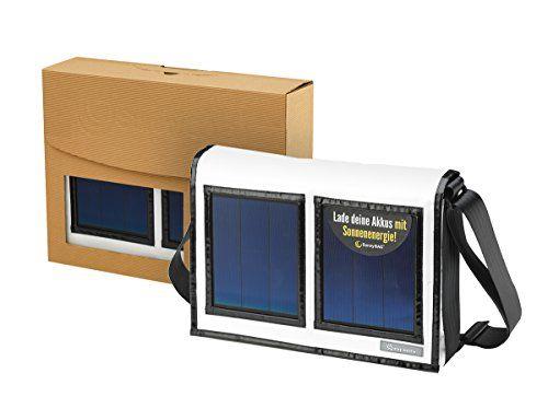 photo Wallpaper of stay mobile-Staymobile Solartasche Mit Integriertem Solar Ladegerät Für Powerbank Akku, Smartphone, IPhone, Samsung Galaxy, IPad,-Weiß