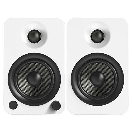 photo Wallpaper of Kanto-Kanto YU4 Regallautsprecher Mit Bluetooth Und Phono Vorverstärker   Glänzend Weiß-Glänzend Weiß