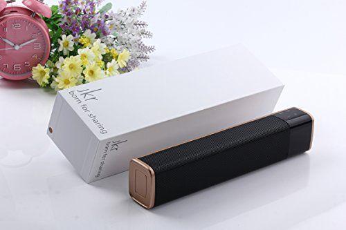photo Wallpaper of easy val.you-Sound Chief   Design Soundbox│Bluetooth Lautsprecher Mit USB Anschluss 20 Watt-Schwarz-Gold