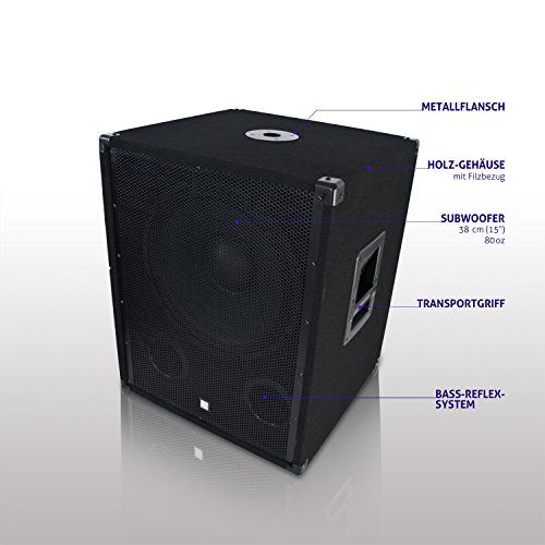 photo Wallpaper of eSmart Germany-ESmart Subwoofer Passiv | PA Lautsprecher | Für Indoor PA Anlage | 15-YAMATO 38 cm (15