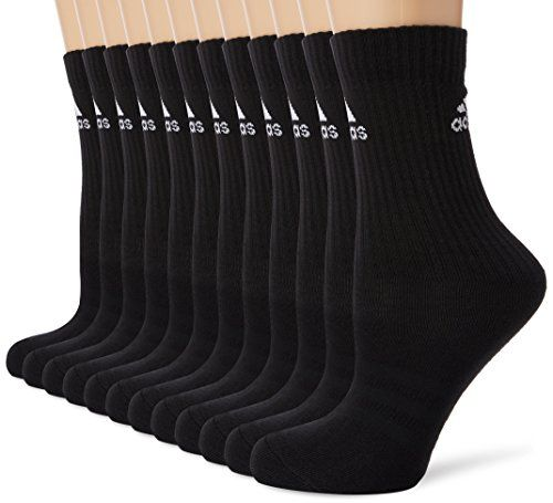 photo Wallpaper of adidas-Adidas Unisex Socken 3 Streifen Crew, 6er Pack, Black, Gr. 43 46, AA2295-Black