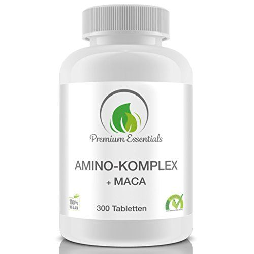 photo Wallpaper of Premium Essentials-Amino Komplex + Maca, 300 Tabletten á 1000mg (Vegan), Alle 18 Aminosäuren Inkl.-