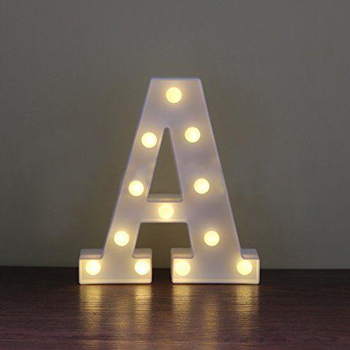 photo Wallpaper of LanLan-Lanlan A Bis Z Alphabet Light Up Sign Decor LED Festzelt Buchstabe Charakter-A