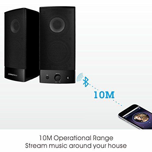 photo Wallpaper of Avantree-Avantree Wireless & Wired Desktop Lautsprecher Computer Bluetooth, Multimedia Lautsprechersystem Speakers Mit 3,5mm AUX-Für PC