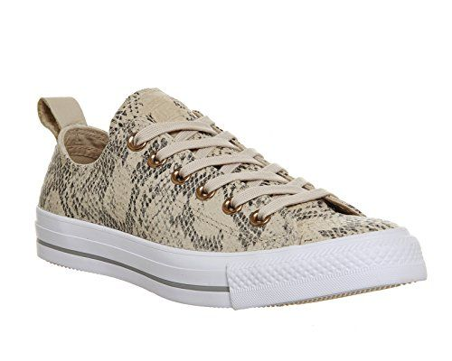 photo Wallpaper of Converse-Converse Chuck Taylor All Star Low Casual Shoe (Ivory Cream/White/Dolphin, 5-Ivory Snake Leather Exclusive