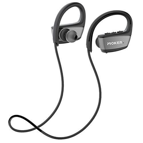 photo Wallpaper of PROKER-Drahtlose Bluetooth Kopfhörer,Proker IPX7 Wasserdichter Bluetooth 4.1 Laufen Kopfhörer, In Ear Kopfhörer, Kabelloser-Bluetooth Kopfhörer Schwarz
