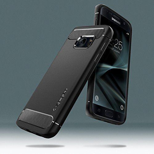 photo Wallpaper of Spigen-Samsung Galaxy S7 Hülle, Spigen® [Rugged Armor] Elastisch [Schwarz] Ultimative Schutz Vor Stürzen Und-Einfarbig