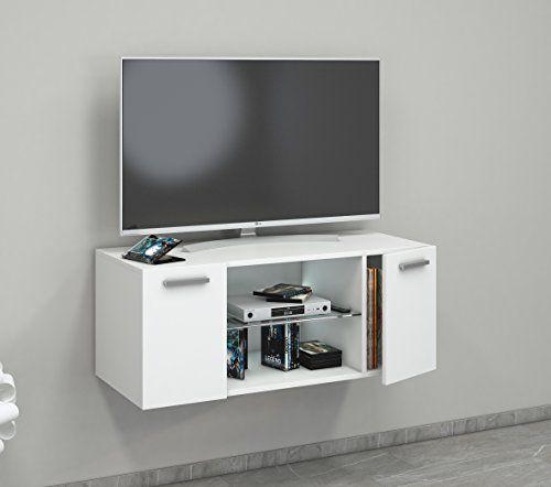 photo Wallpaper of VCM-VCM TV Schrank Lowboard Tisch Board Fernseh Sideboard Wandschrank Wohnwand Holz Weiß 40-Weiß