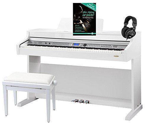 photo Wallpaper of Classic Cantabile-Classic Cantabile DP A 410 WH E Piano Set Inkl. Bank, Kopfhörer Und-