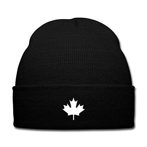 photo Wallpaper of Spreadshirt-Spreadshirt Kanada Canada Wintermütze, Schwarz-Schwarz