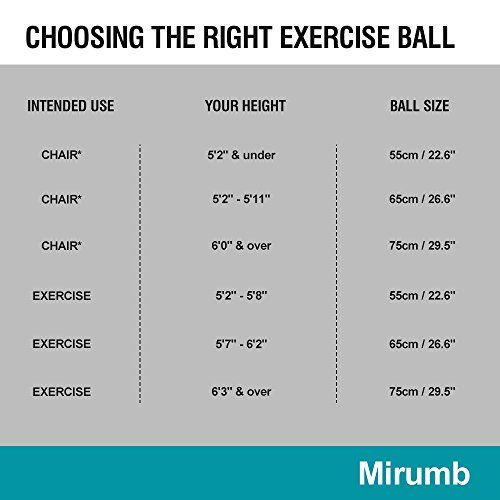 photo Wallpaper of Mirumb-Pelota De Ejercicio»con Bomba De Pie« Pelota Pilates Fitness /Mirumb Ballon-negro