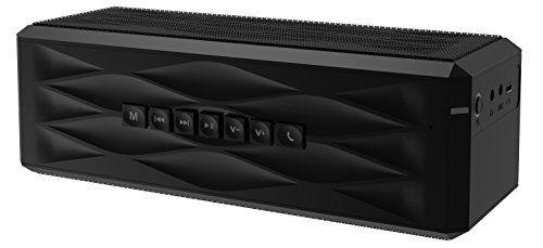 photo Wallpaper of SHARKK-SHARKK® Boombox Bluetooth Lautsprecher Tragbarer Stereo Lautsprecher Mit 18+ Stunden-Schwarz