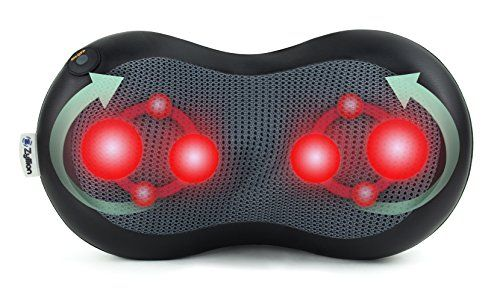 photo Wallpaper of Zyllion-Zyllion ZMA 19 BK FDA Listed Shiatsu Neck And Back Massager / Heated Pillow-negro