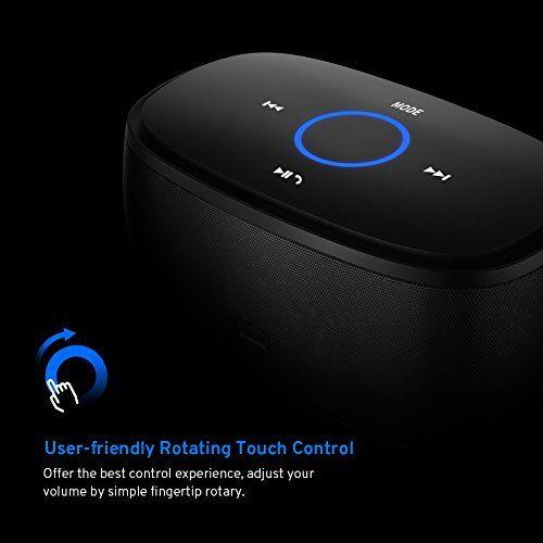 photo Wallpaper of Techvilla-Bluetooth Lautsprecher Techvilla Wireless Bluetooth Lautsprecher Touch Tragbare Mit Dual Treiber, 12 Stunden Spielzeit-Schwarz
