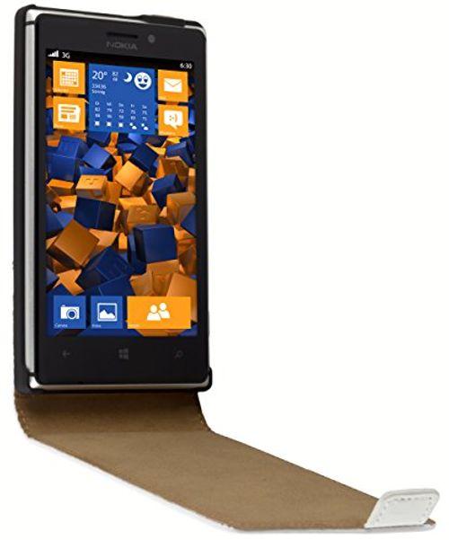 photo Wallpaper of mumbi-Mumbi PREMIUM Leder Flip Case Für Nokia Lumia 925 Tasche Weiss-Weiß