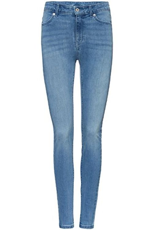photo Wallpaper of FIND-FIND Skinny Jeans Damen Mit Hohem Bund, Vintage Waschung Und 5 Pocket-Blau (Light Blue)