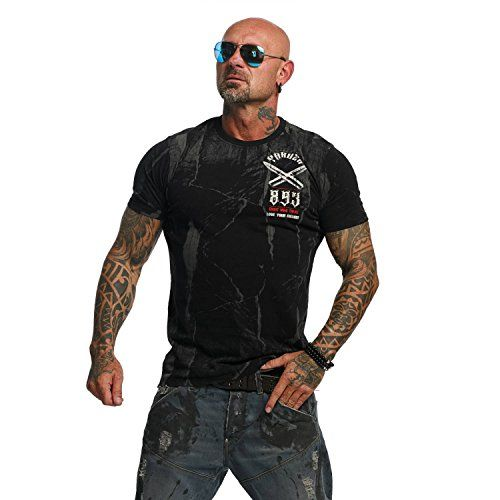 photo Wallpaper of Yakuza-Yakuza Original Herren Bullets T Shirt-Schwarz
