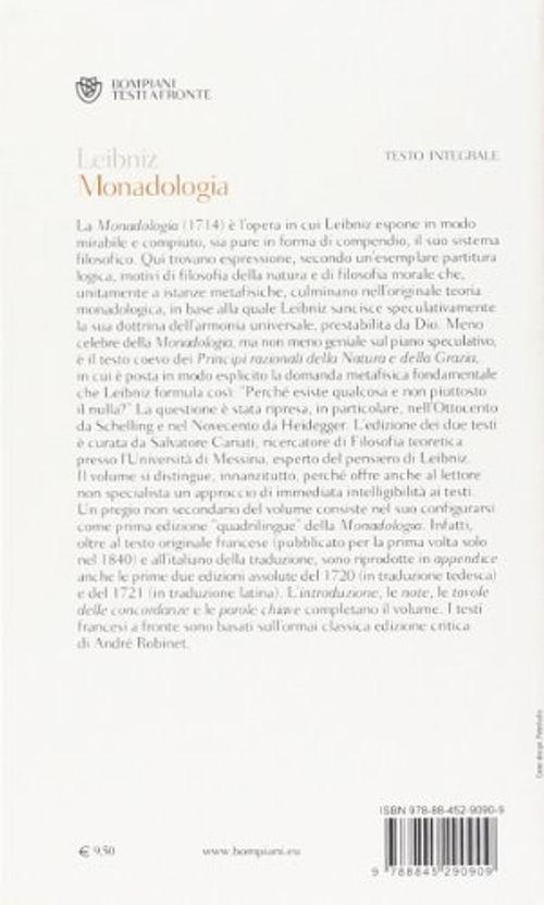 photo Wallpaper of -Monadologia. Testo Francese A Fronte-