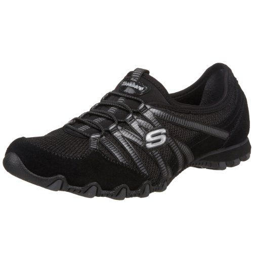 photo Wallpaper of Skechers-Skechers Bikers Hot Ticket, Damen Sneakers, Schwarz (BKCC), 41 EU-Schwarz (Bkcc)