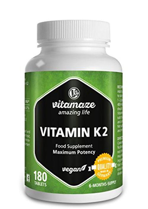 photo Wallpaper of Vitamaze - amazing life-Vitamina K2 Certificada, Altamente Concentrada, 200 µg Menaquinona MK 7, 180 Comprimidos-