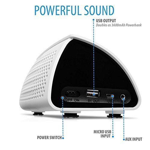photo Wallpaper of V7-V7 Powerbank Und Bluetooth 3.0 Lautsprecher (3600 MAh, 5 Watt, NFC Verbindungsfunktion) Android-weiß