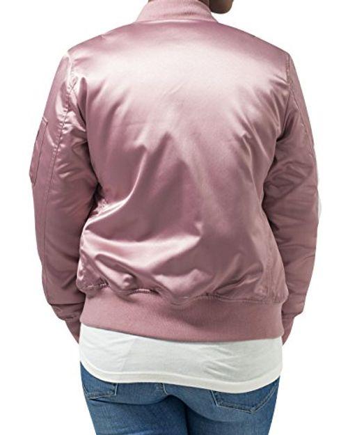 photo Wallpaper of Urban Classics-Urban Classics Damen Jacke Ladies Satin Bomber Jacket-Oldrose