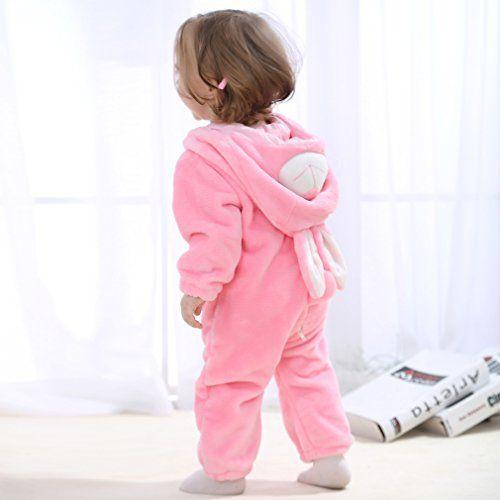 photo Wallpaper of MICHLEY-MICHLEY Baby Mädchen Und Junge Flanell Frühling Strampler Pyjama Kostüm-Pink