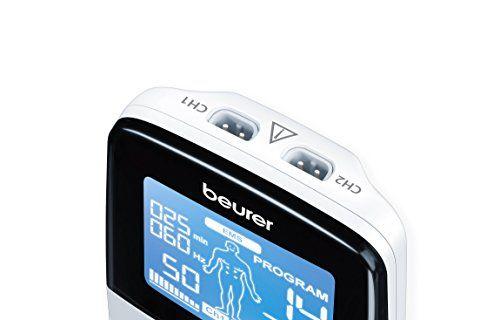 photo Wallpaper of Beurer-Beurer EM49 Electroestimulador Digital Masaje EMS TENS, Pantalla LCD, 2 Canales, 4 Electrodos Autoadhesivos-