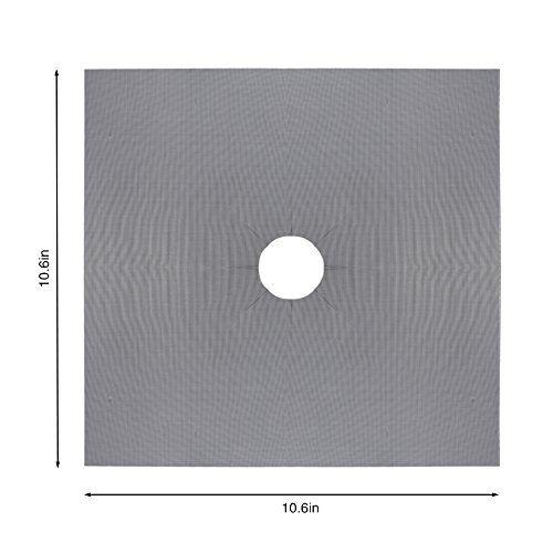 photo Wallpaper of LinTimes-LinTimes Wiederverwendbare Aluminiumfolie Brennerabdeckung Antihaftbeschichtet Gasherd Brenner Abdeckung Schutzmatte (4PCS)-