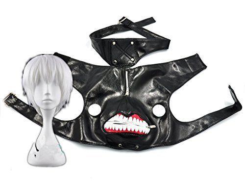 photo Wallpaper of COSPLAZA-COSPLAZA Tokyo Ghoul Kaneki Ken Cuero Negro Máscara De Cremallera De-plata