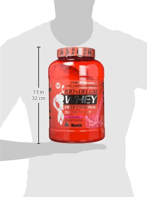 photo Wallpaper of Beverly nutrition-Beverly Nutrition 100% Deluxe Whey Professional Proteína Concentrada Sabor Fresa-