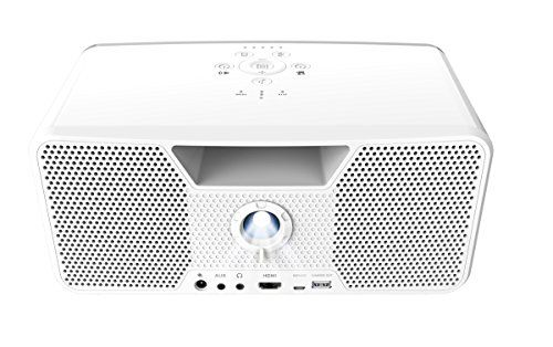 photo Wallpaper of Aiptek-Dashbon Flicks 140 Kabelloser Boombox HD Projektor (HDMI, Bluetooth, AUX, USB, 700-Weiß