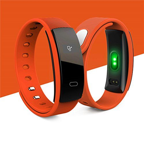 photo Wallpaper of tslmj-Fitness Tracker,IP67 Impermeable Smart Band Pulsera Inteligente Oxígeno Monitor De-naranja