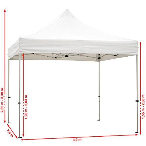 photo Wallpaper of TOOLPORT-TOOLPORT Faltpavillon Faltzelt 3x3m   2 Seitenteile ALU Pavillon Partyzelt Rot Dach-rot